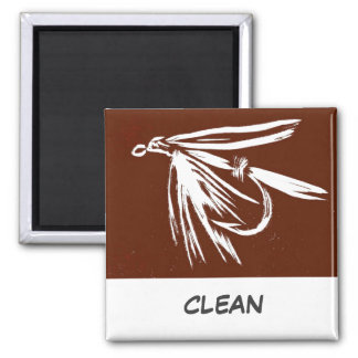 """""""Wet Fly"""" Dish Washer Status Magnet"""
