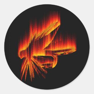 Wet Fly Fire design Classic Round Sticker