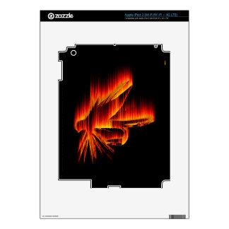 Wet Fly Fire design Decals For iPad 3