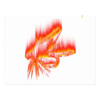 Wet Fly Fire design Postcard
