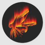 Wet Fly Fire design Round Stickers
