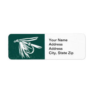 Wet Fly in Green Trout Fly Return Address Label