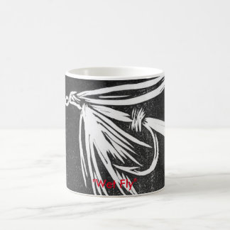 """Wet Fly on black"" Classic Trout Fly Mug"