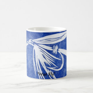 """Wet Fly on blue"" Classic Trout Fly Mug"