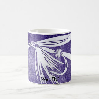 """Wet Fly on Purple"" Classic Trout Fly Mug"