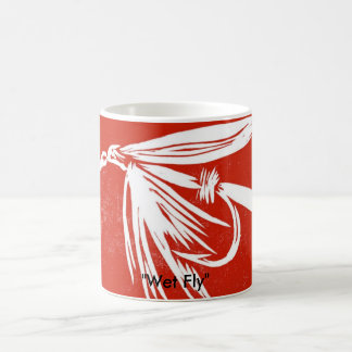 """Wet Fly on red"" Classic Trout Fly Mug"