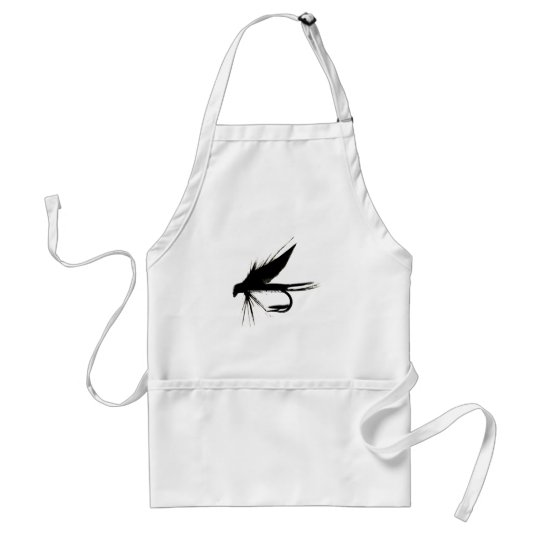 Wet Fly Silhouette Adult Apron