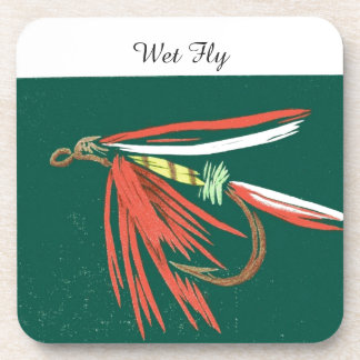 """Wet Fly"" Trout Wet Fly Coaster"
