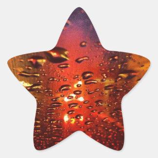 Wet Glass & Light Star Stickes Star Sticker