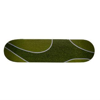 Wet green metallic skateboard deck