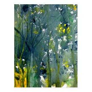 Wet Into Wet Watercolor Postcard