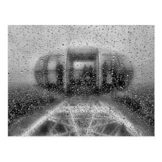 Wet London Eye Postcard