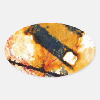 wet match stick's oval sticker