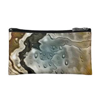 wet metal golden makeup bags