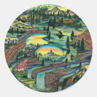 Wet N' Wild Round Stickers