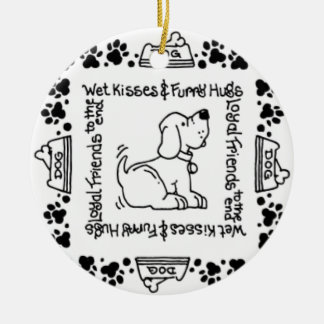 Wet Noses & Wagging Tails - A Dog Lover's Delight Ceramic Ornament