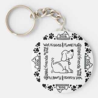 Wet Noses & Wagging Tails - A Dog Lover's Delight Keychains