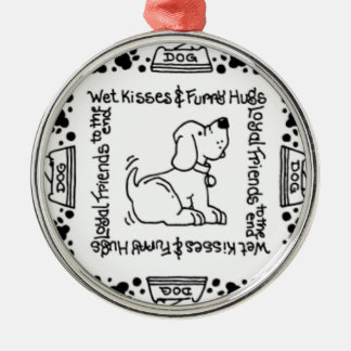 Wet Noses & Wagging Tails - A Dog Lover's Delight Metal Ornament