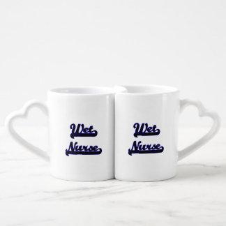 Wet Nurse Classic Job Design Couples' Coffee Mug Set