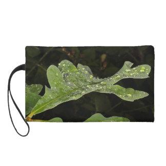 Wet Oak Leaf Wristlet Purse
