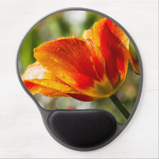 Wet Orange and Yellow Tulip Gel Mouse Pad