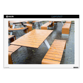 """Wet outdoor cafe tables on the street decals for 17"""" laptops"""
