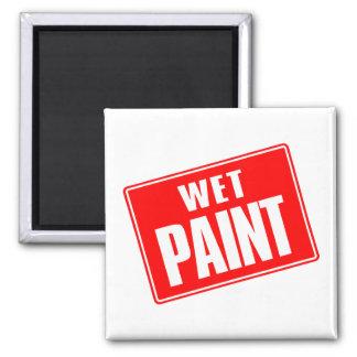 Wet Paint 2 Inch Square Magnet