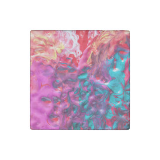 Wet Paint Abstract Stone Magnet