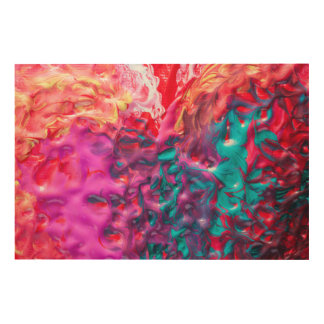 Wet Paint Abstract Wood Wall Art