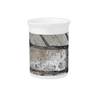 Wet paver blocks drink pitcher