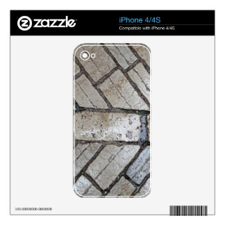 Wet paver blocks iPhone 4 decal