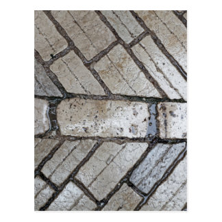 Wet paver blocks postcard