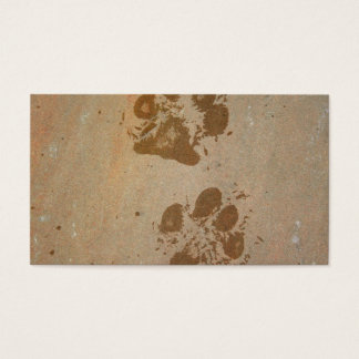 Wet Paw Prints Business Card