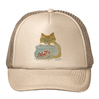 Wet Paws - Kitten get Away from the Goldfish! Trucker Hat