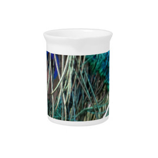 wet peafowl feathers beverage pitchers