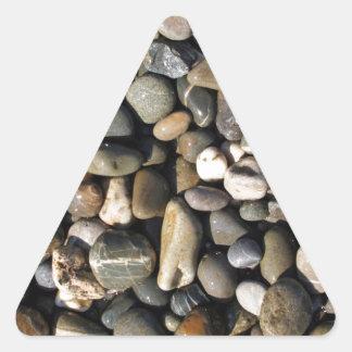 wet pebbles triangle sticker