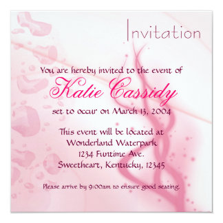 Wet Pink Invitation