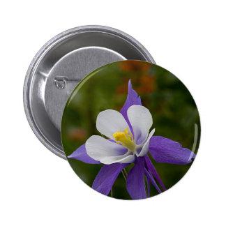 Wet Purple Columbine Pinback Buttons