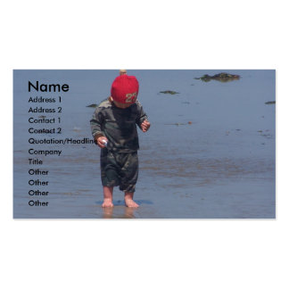 Wet Sand Between The Toes Business Card Templates