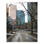 Wet Street in Downtown Edmonton Custom Letterhead