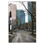 Wet Street in Downtown Edmonton Dry Erase Whiteboards