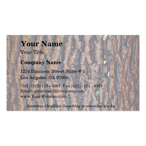 Wet tree bark business card templates