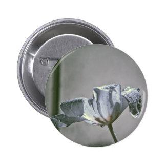 Wet Tulip Infrared Pinback Button