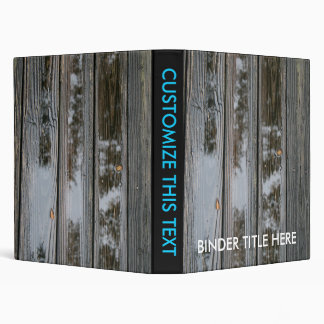Wet Wood with puddles background image 3 Ring Binder