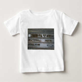 Wet Wood with puddles background image Infant T-shirt