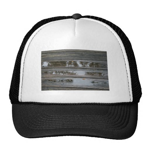 Wet Wood with puddles background image Mesh Hat