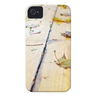 Wet wooden platform made of planks iPhone 4 case