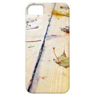 Wet wooden platform made of planks iPhone SE/5/5s case