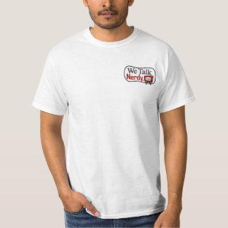WeTalkNerdy.tv Logo - Front Pocket and Back Tee Shirt