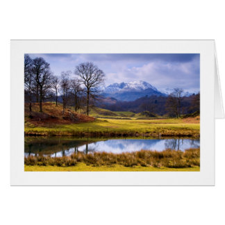 Wetherlam from the River Brathay Christmas Card